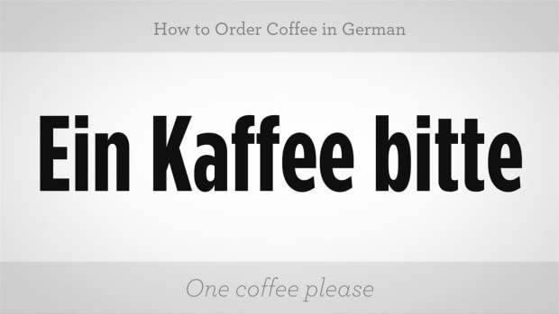 ZZZE. How to Order Coffee in German Promo Image