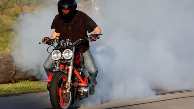 A. How to Do a Burnout on a Motorcycle Promo Image