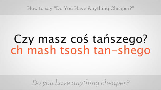 "ZZG. How to Say ""Do You Have Anything Cheaper"" in Polish Promo Image"
