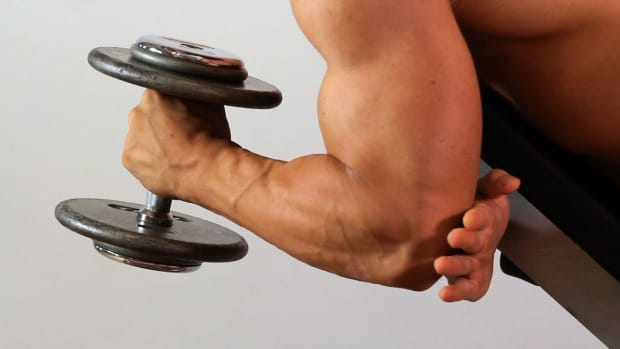 ZA. How to Do a Prone Hammer Curl for an Arm Workout Promo Image