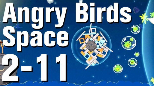 ZO. Angry Birds: Space Walkthrough Level 2-11 Promo Image