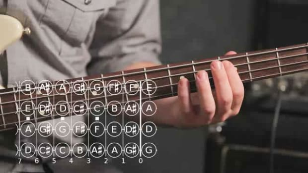 ZY. How to Play a Major Pentatonic Scale on Bass Guitar Promo Image