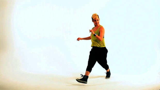 ZB. How to Do the Kick Cross Rock Step Dance Move Promo Image