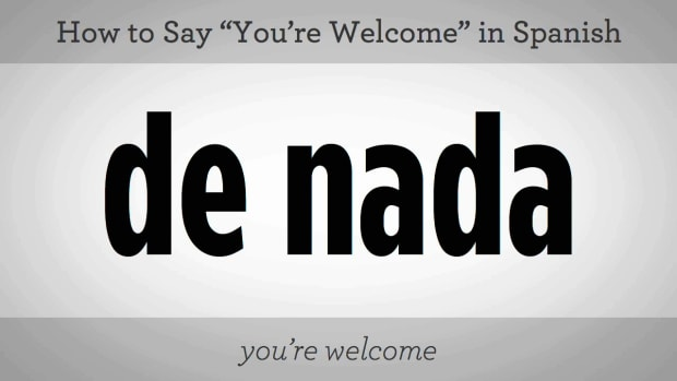 "M. How to Say ""You're Welcome"" in Spanish Promo Image"