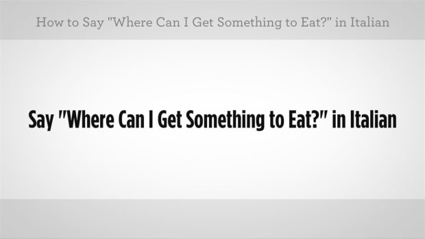 "ZZK. How to Say ""Where Can I Get Something to Eat"" in Italian Promo Image"