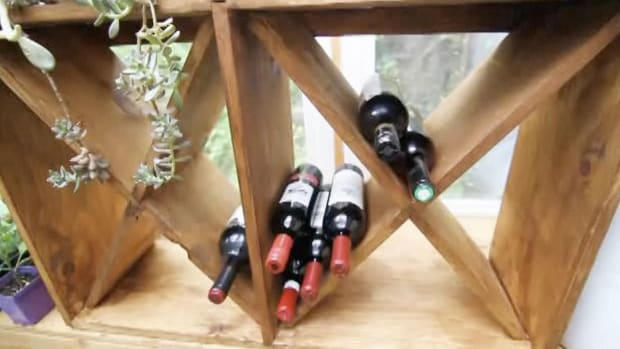 D. How to Build a Wooden Wine Rack Promo Image