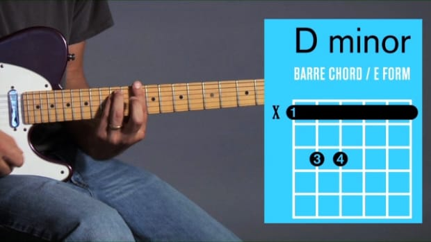 ZI. How to Play a D Minor Barre Chord on Guitar Promo Image