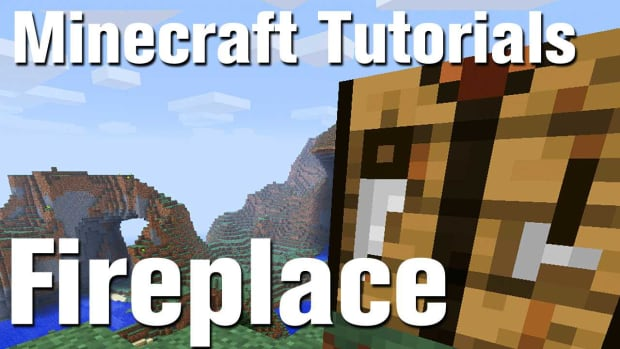 ZX. Minecraft Tutorial: How to Make a Fireplace Promo Image