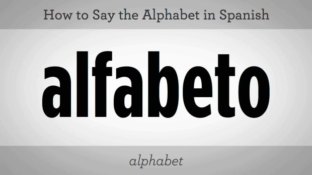 F. How to Say the Alphabet in Spanish Promo Image