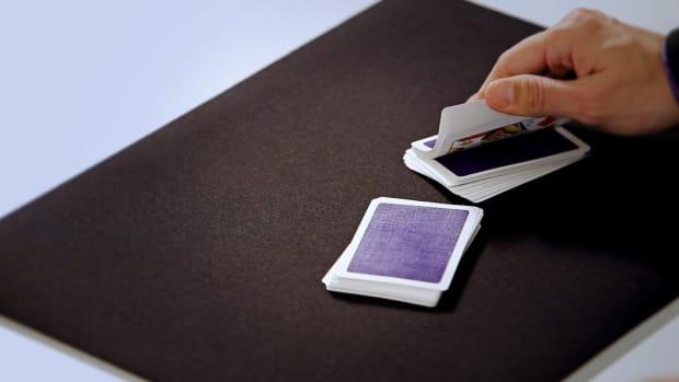 O. How to Do the Tabled Riffle Shuffle Card Flourish Promo Image