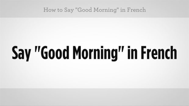 "H. How to Say ""Good Morning"" in French Promo Image"