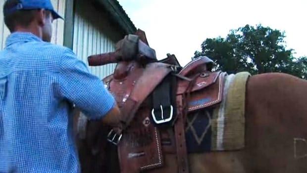 C. How to Saddle a Horse Western Style Promo Image