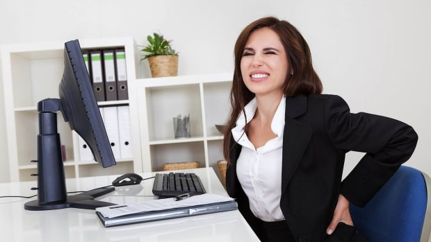 W. How to Relieve Back Pain at Work Promo Image
