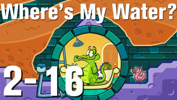 ZJ. Where's My Water Walkthrough Level 2-16 Promo Image