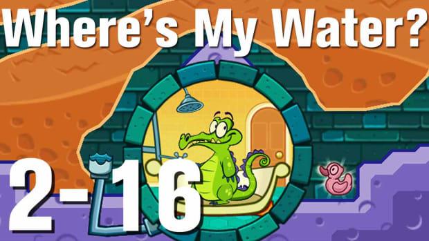 ZJ. Where's My Water Walkthrough Level 2-16 Promo Image