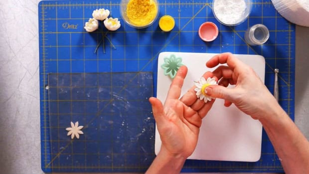G. How to Make Sugar Paste Daisy Petals Promo Image