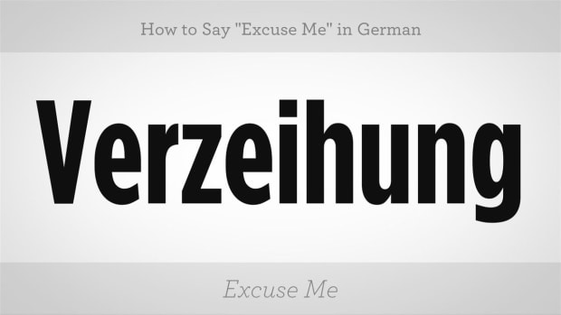 "M. How to Say ""Excuse Me"" in German Promo Image"