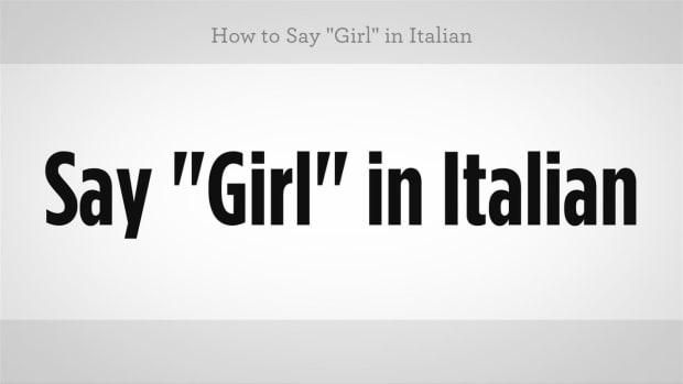 """ZL. How to Say """"Girl"""" in Italian Promo Image"""