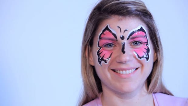 O. How to Paint a Butterfly with Face Paint Promo Image