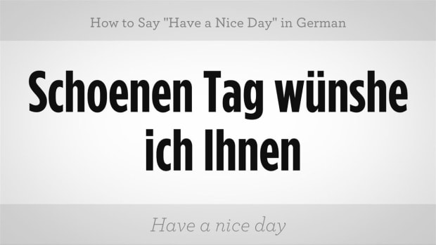 "ZO. How to Say ""Have a Nice Day"" in German Promo Image"