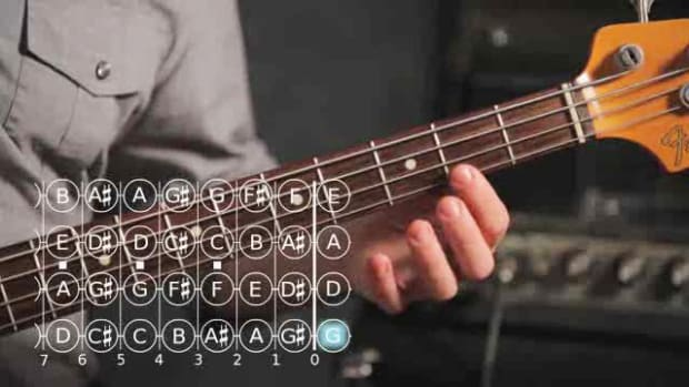 ZR. How to Play a D Major Scale on Bass Guitar Promo Image