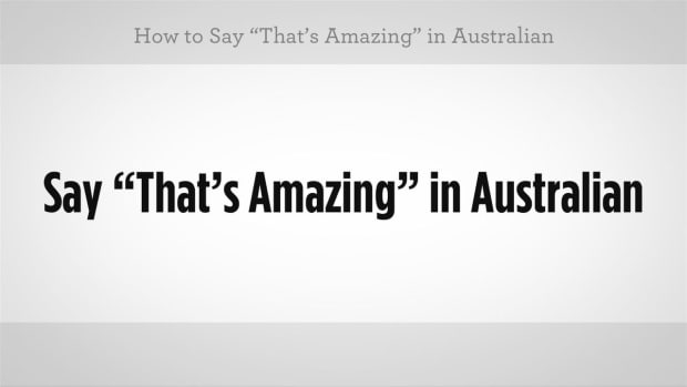 "D. How to Say ""That's Amazing"" in Australian Slang Promo Image"