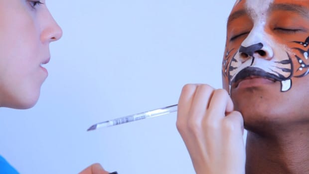 E. How to Paint a Tiger Face with Face Paint Promo Image