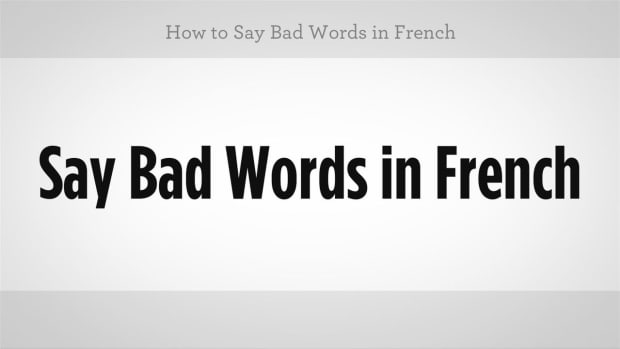 A. How to Say Bad Words in French Promo Image