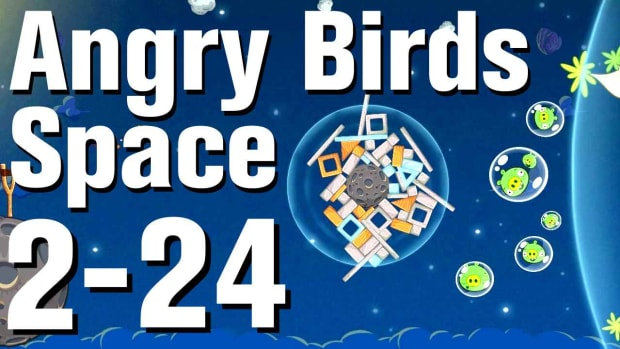 ZZB. Angry Birds: Space Walkthrough Level 2-24 Promo Image