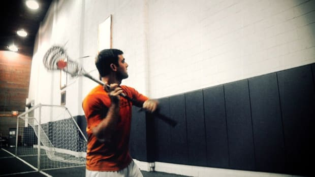 J. How to Do a Wall Ball Drill for Lacrosse Promo Image