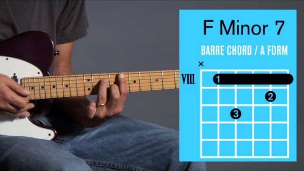 ZZZZY. How to Play an F Minor 7 Barre Chord on Guitar Promo Image