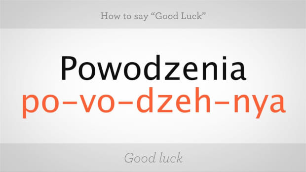 "ZS. How to Say ""Good Luck"" in Polish Promo Image"