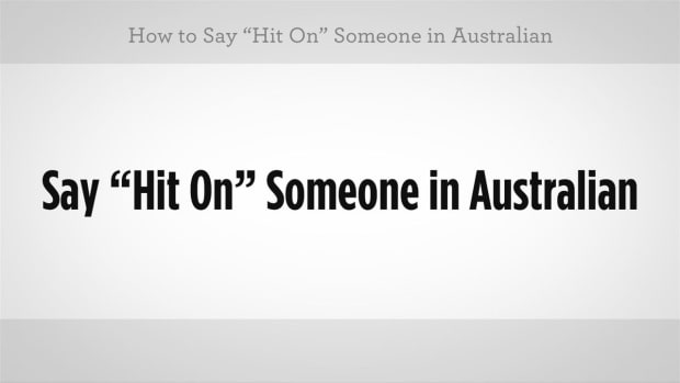 "C. How to Say ""Hit On"" in Australian Slang Promo Image"