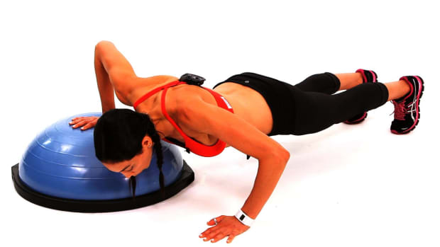 I. How to Do a Push-Up with a Bosu Ball Promo Image