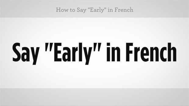 "ZZH. How to Say ""Early"" in French Promo Image"