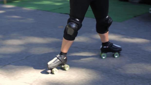 ZA. How to Do a Spread Eagle on Roller Skates Promo Image