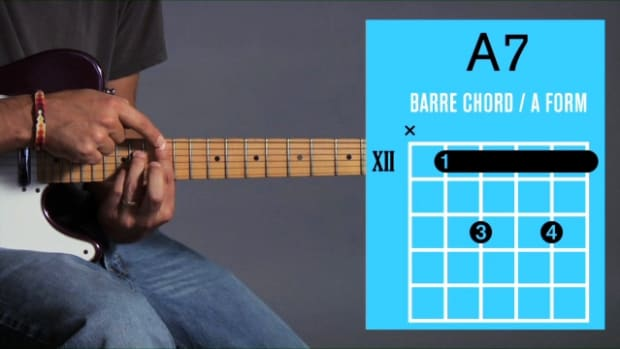 ZZZZA. How to Play an A7 Barre Chord on Guitar Promo Image