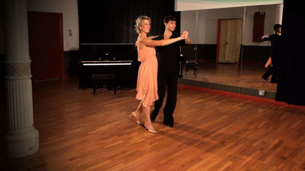R. How to Do a Foxtrot Promenade Step Promo Image