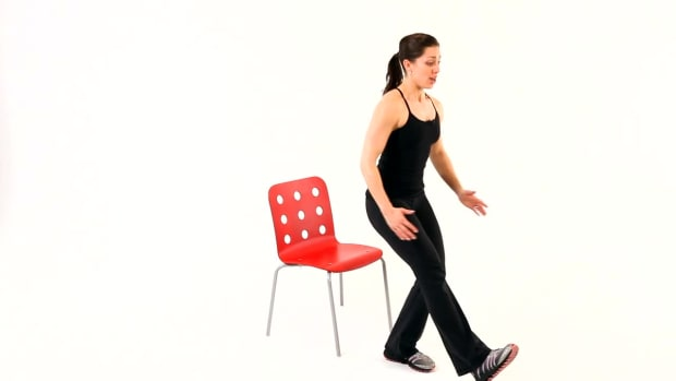 E. How to Do a Chair Squat & Single Leg Squat Promo Image