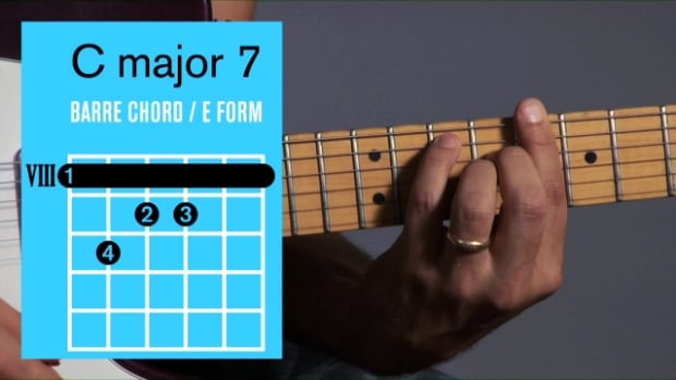 ZZZZZE. How to Play a C Major 7 Barre Chord on Guitar Promo Image