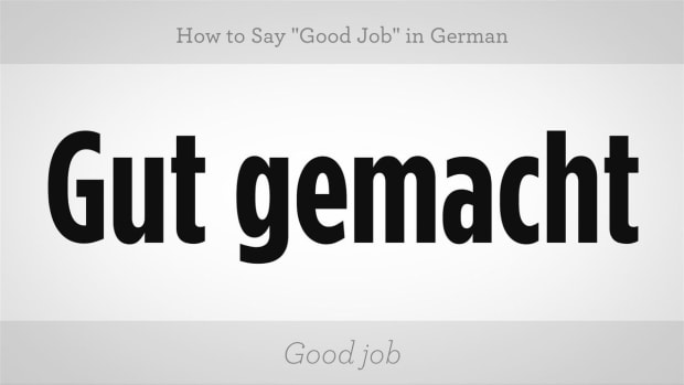 "ZZK. How to Say ""Good Job"" in German Promo Image"