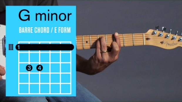 ZZZX. How to Play a G Minor Barre Chord on Guitar Promo Image