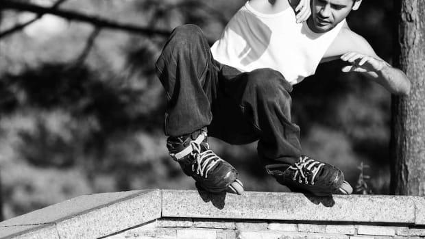K. How to Do a Fast Slide on In-Line Skates Promo Image