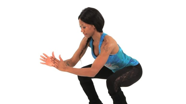 T. How to Do a Burpee with Lateral Leg Raise Promo Image