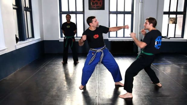 E. How to Do a Krav Maga Outside Defense against a Kick Promo Image