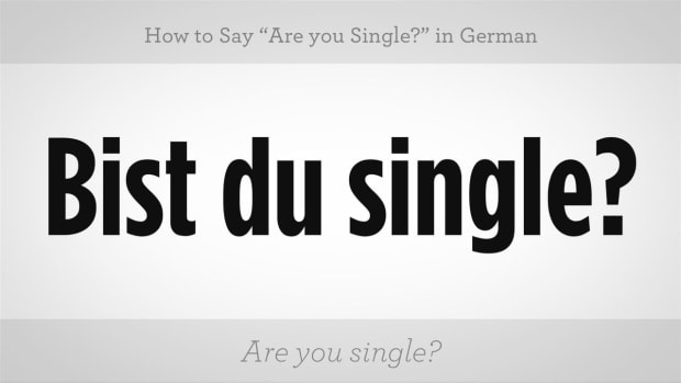 "ZZG. How to Say ""Are You Single?"" in German Promo Image"