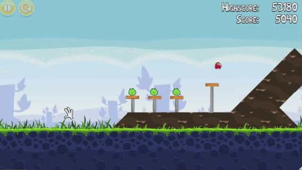 B. Angry Birds Level 1-2 Walkthrough Promo Image