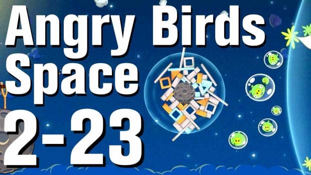 ZZA. Angry Birds: Space Walkthrough Level 2-23 Promo Image