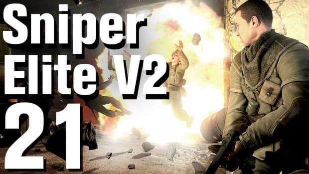 U. Sniper Elite V2 Walkthrough Part 21 - St. Olibartus Church Promo Image