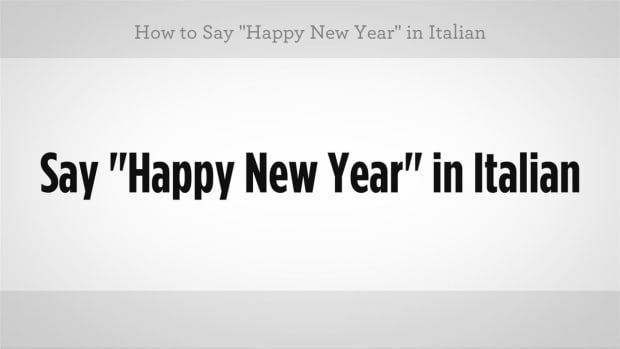 "ZQ. How to Say ""Happy New Year"" in Italian Promo Image"